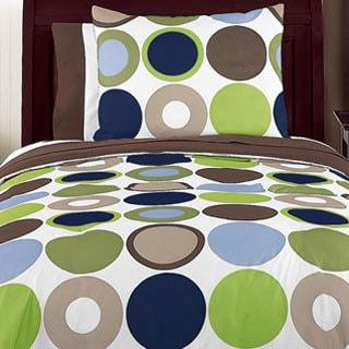 Sweet Jojo Designs Boys 'Dots' 3-piece Full/Queen Comforter Set