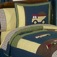 Sweet Jojo Designs Boys 'Construction Zone' Full/Queen 3-piece Comforter Set