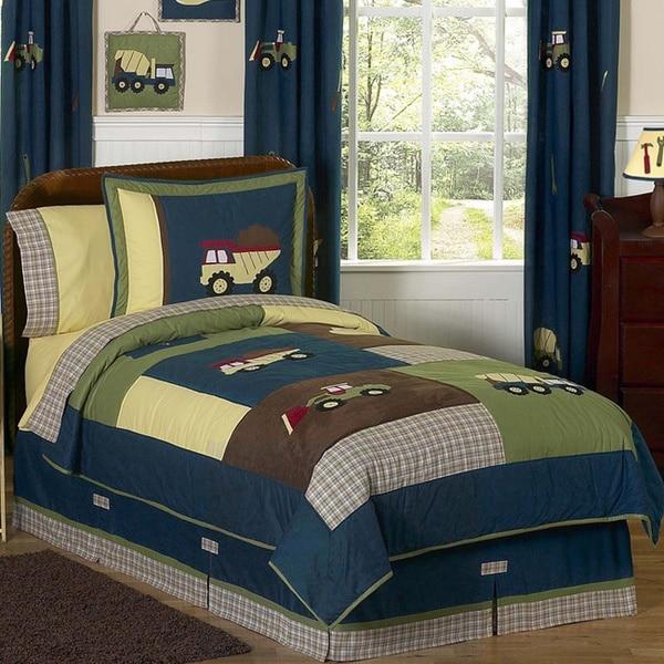 Sweet Jojo Designs Boys 'Construction Zone' Full/Queen 3-piece Comforter Set