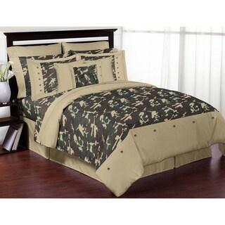 Sweet Jojo Designs Boys 'Green Camouflage' 3-piece Full/Queen Comforter Set