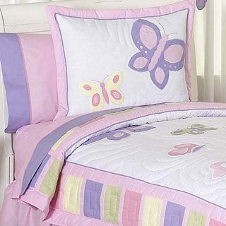 Sweet Jojo Designs Girls 'Butterfly' 3-piece Full/Queen Comforter Set