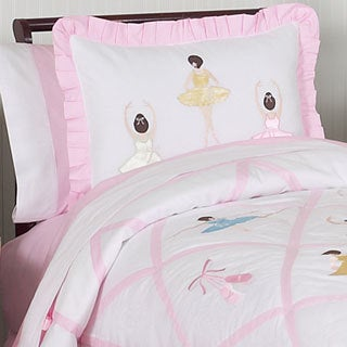 Sweet Jojo Designs Girls 'Ballerina' Full/Queen 3-piece Comforter Set