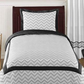 Sweet Jojo Designs 'Chevron' 4-piece Twin Comforter Set