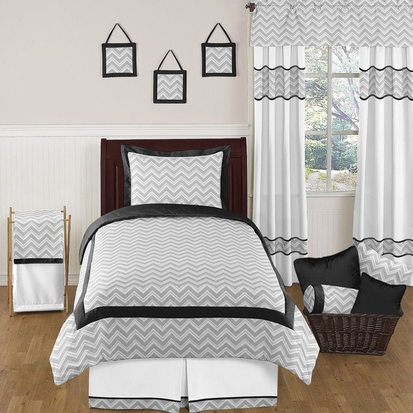 Sweet Jojo Designs 'Chevron' 4-piece Twin Comforter Set