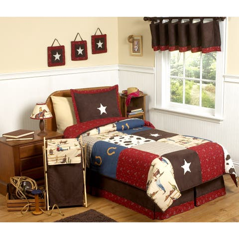 Sweet Jojo Designs Boys 'Wild West Cowboy' 4-piece Twin Comforter Set
