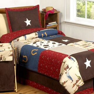 Sweet Jojo Designs Boys 'Wild West Cowboy' 4-piece Twin Comforter Set
