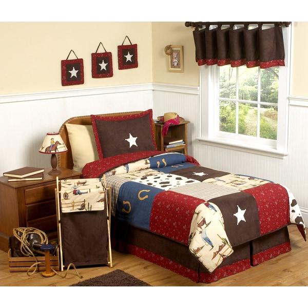 Sweet Jojo Designs Boys 'Wild West Cowboy' 4-piece Twin Comforter Set. Opens flyout.