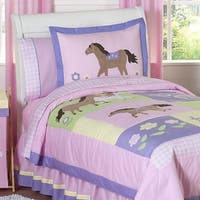 Sweet Jojo Designs Girls 'Pretty Pony' Twin 4-piece Comforter Set