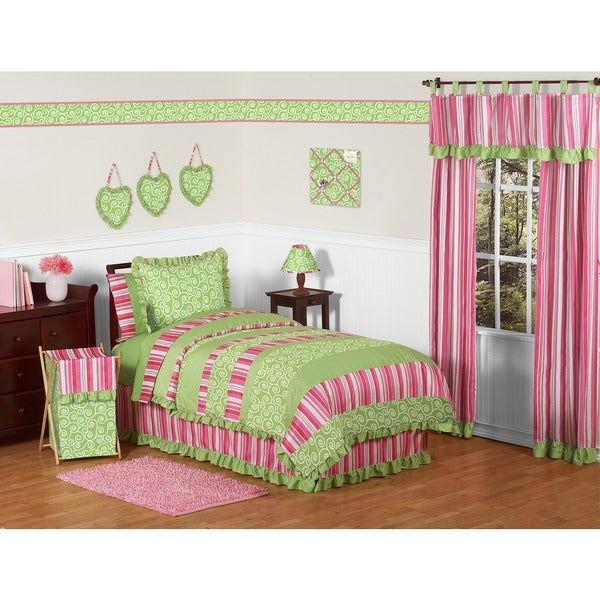 Sweet Jojo Designs Girls 'Olivia' 4-piece Twin Comforter Set