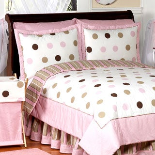Sweet Jojo Designs Girls 'Dots' Twin 4-piece Comforter Set