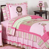 Sweet Jojo Designs Girls 'Jungle' Twin 4-piece Comforter Set