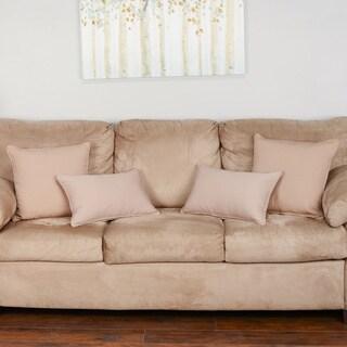 Blazing Needles Twill Throw Pillows (Set of 4)