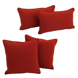 Blazing Needles Delaney Indoor Throw Pillow Set (Set of 4)