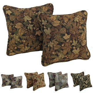 Gracewood Hollow Chaat Floral Corded Tapestry Pillow (Set of 2)