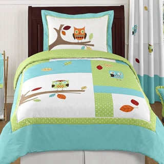 Sweet Jojo Designs Unisex Hooty Owl 4-piece Twin Comforter Set