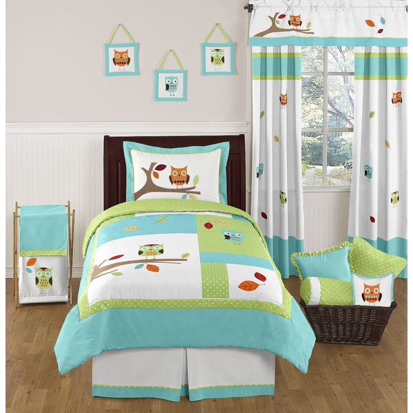 Unisex Kids Room Ideas: Shop Sweet Jojo Designs Unisex Hooty Owl 4-piece Twin