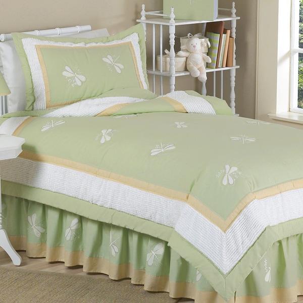 Sweet Jojo Designs 4-piece Green Dragonfly Dreams Comforter Set