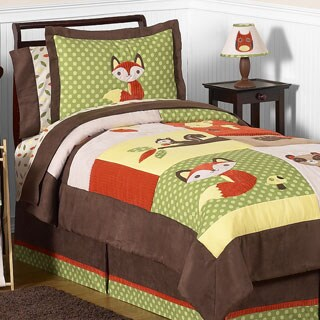 Sweet Jojo Designs Woodland Forest Animals 4-piece Comforter Set