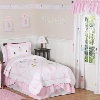 Link to Sweet Jojo Designs Girls 4-piece Ballet Dancer Twin Comforter Set Similar Items in Kids Comforter Sets