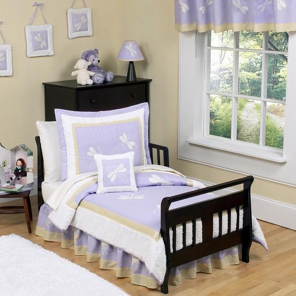 Sweet Jojo Designs Girl Purple Dragonfly Toddler 5-piece Comforter Set