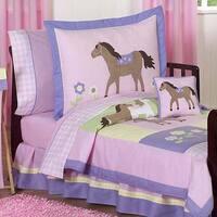 Sweet Jojo Designs Girl Pony Horse Toddler 5-piece Comforter Set