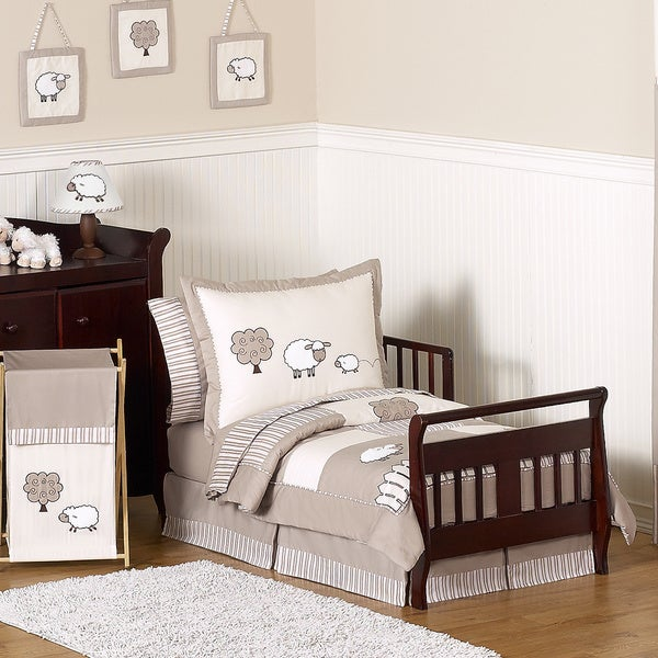 Sweet Jojo Designs Unisex 5-piece Little Lamb Toddler Comforter Set