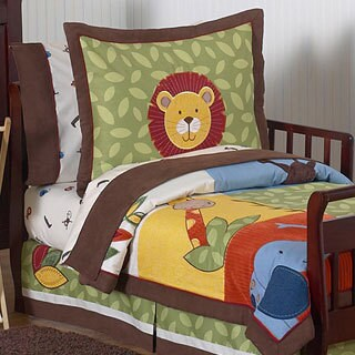 Sweet Jojo Designs Boy 5-piece Jungle Time Toddler Comforter Set