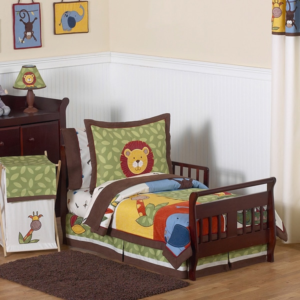 toddler boy bedroom sets shop sweet jojo designs boy 5 jungle time toddler 17535