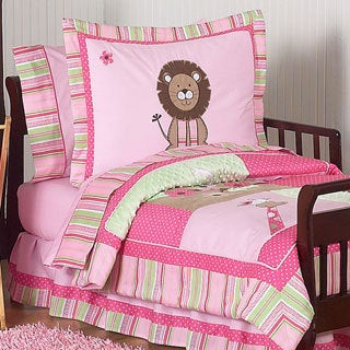Sweet Jojo Designs Girl 5-piece Jungle Toddler Comforter Set