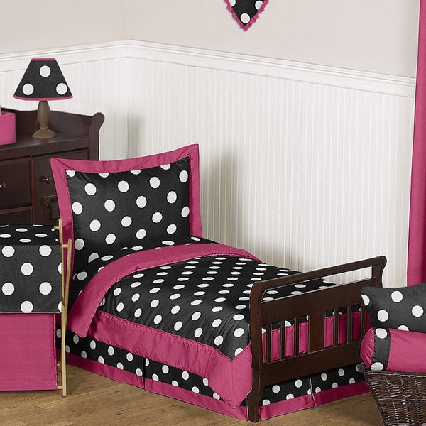 Sweet Jojo Designs Girl 5-piece Hot Dot Toddler Comforter Set