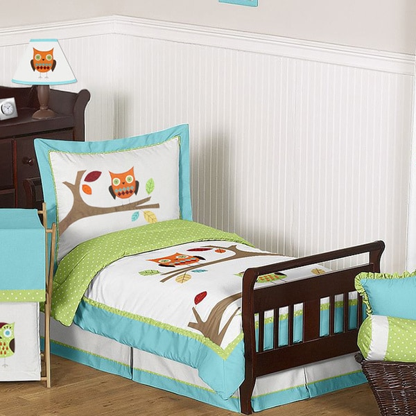Sweet Jojo Designs 5-piece Hooty Owl Toddler Comforter Set