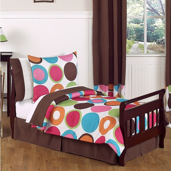 Sweet Jojo Designs Girls 5-piece Deco Dot Toddler Comforter Set