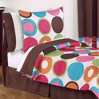 Sweet Jojo Designs Girls 5-piece Deco Dot Toddler Comforter Set