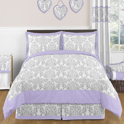 Sweet Jojo Designs Girls 3-piece Elizabeth Full/Queen Comforter Set