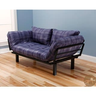 Christopher Knight Home Multi Flex Black Metal Daybed Lounger With Purple White Mattress