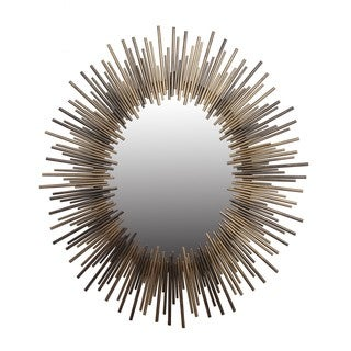 Oval Gold and Silver Iron Mirror