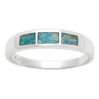 14k White Gold Fancy-cut Opal Ring