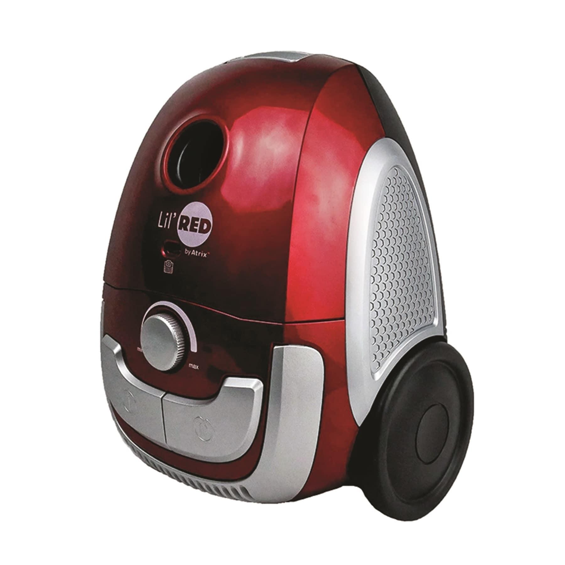 ATRIX Lil' Red Hepa Canister Vacuum, Black
