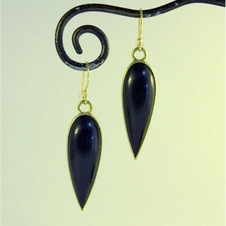 Black Beauty Inverted Teardrop Dangle Earrings (Indonesia)