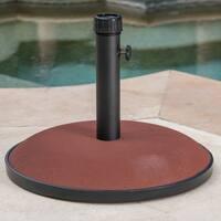 Terracota Outdoor Circular Concrete Umbrella Base by Christopher Knight Home