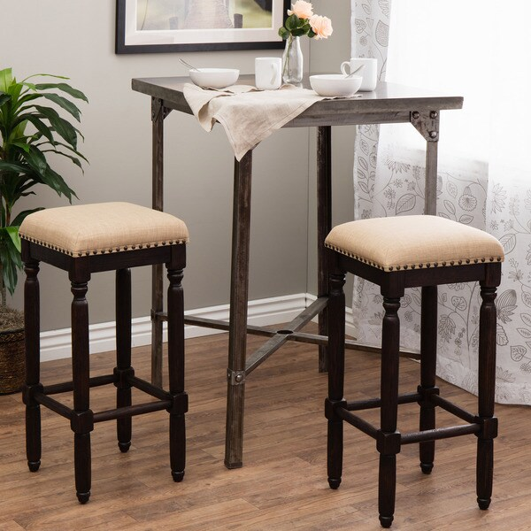 Shop Renate Coffee Bar Stools Set Of 2 Free Shipping