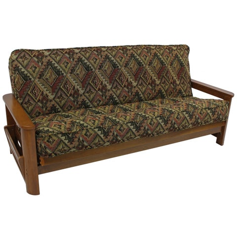 Blazing Needles Western Collection Double-corded Tapestry 8-to-9-inch Futon Cover