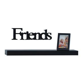 Melancco 3-piece Black Shelf Set