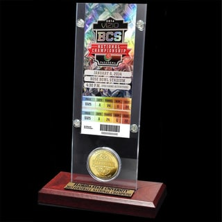 Florida State 2014 BCS National Champions Ticket and Bronze Coin Desktop Acrylic