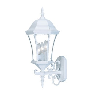 Brynmawr Collection 3-light Outdoor Wall Mount Textured White Light Fixture
