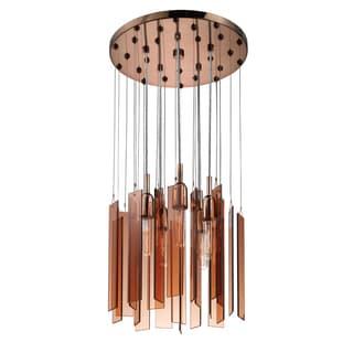 Chimes 5-light Polished Bronze Round Pendant