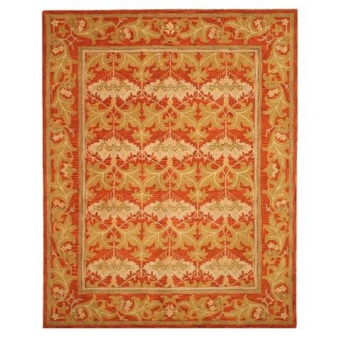 Hand-tufted Wool Rust Transitional Oriental Morris Rug - 5' x 8'