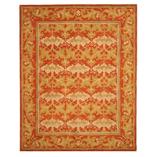 Hand-tufted Wool Rust Transitional Oriental Morris Rug (5' x 8') - 5' x 8'
