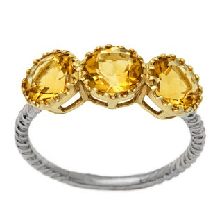 14k White Gold Citrine Ring