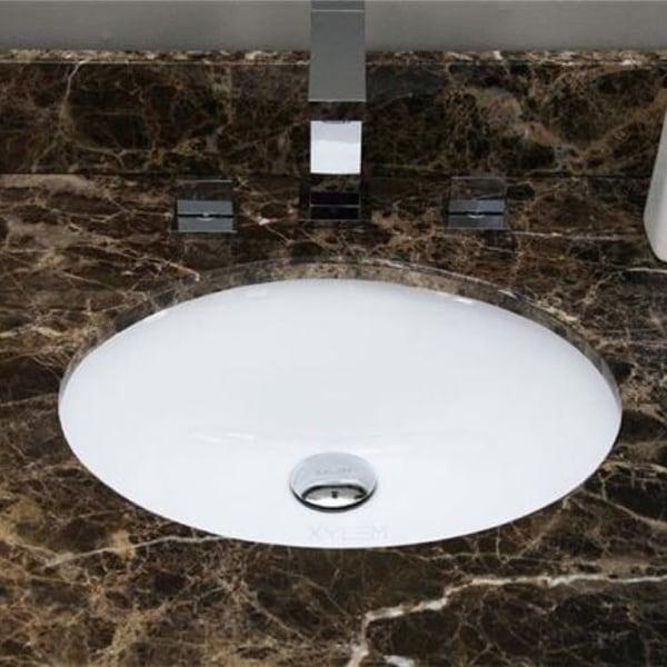 20 x 15 inch white oval undermount ceramic bathroom sink